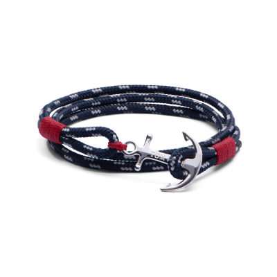 Tom Hope Navy and Silver Anchor Bracelet, €47