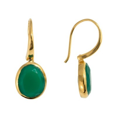 Cocoa Pod Earrings in Green - €69