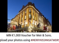 Win €1000 Gift Card – #merrykissmasatweirs