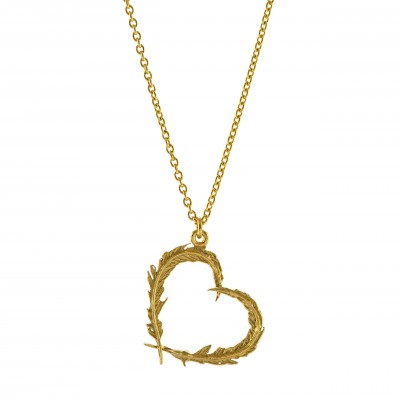 Delicate Feather Heart necklace by Alex Monroe, €125