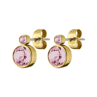 Dyberg/Kern Gold and Pink London Studs, €39