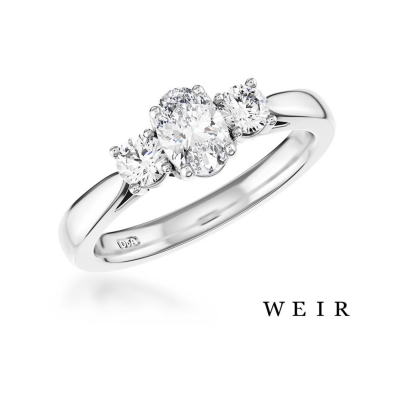 Platinum and Oval Cut Engagement Ring, €2,965