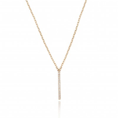 Astrid & Miyu Hold on Small Bar Necklace, €35