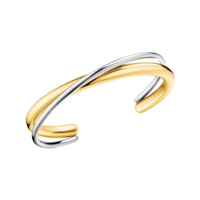 calvin klein two tone bangle