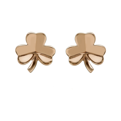 House of Lor Rose Gold Shamrock Earrings, €215