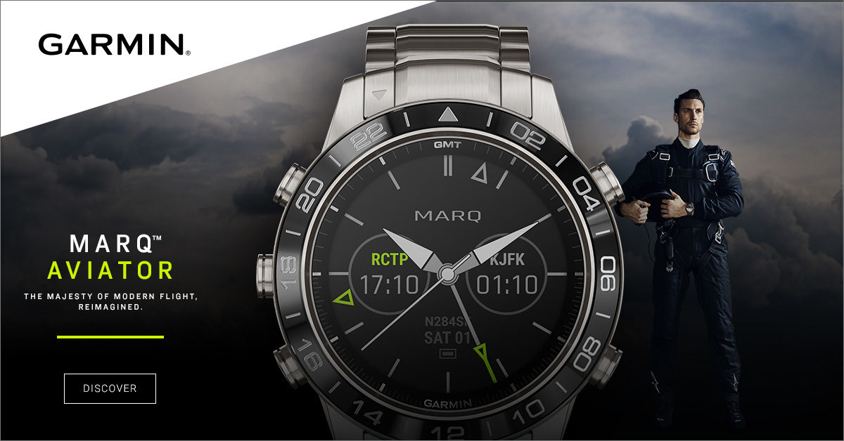 The Garmin MARQ Aviator watch