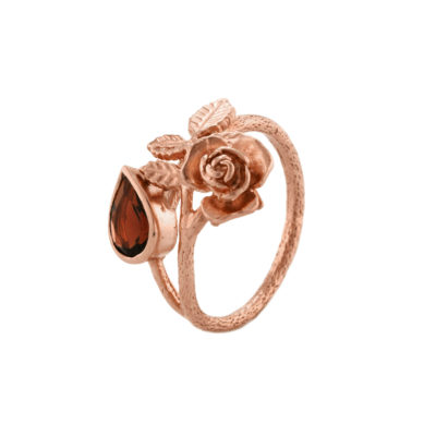 Alex Monroe Beauty and the Beast Collection Enchanted Rose Garnet Ring