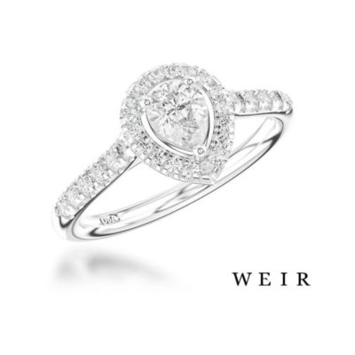 Platinum Pear Cut Diamond Engagement Ring Weir and Sons