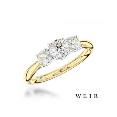 18K Gold and Platinum Trilogy Diamond Ring Weir and Sons