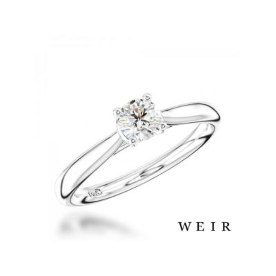 Platinum Solitaire Ring by Weir and Sons as a perfect Valentine's Day Proposal Gift Surprise