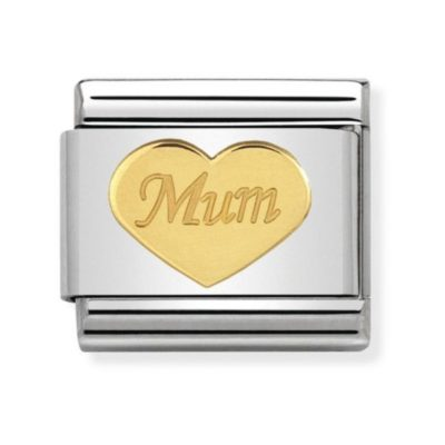 Nomination Mum charm in gold heart