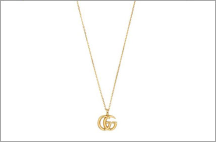 Gucci G Running Necklace 17.5mm 18k Gold
