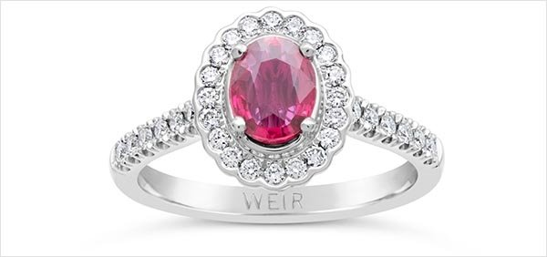 COLOURED ENGAGEMENT RING