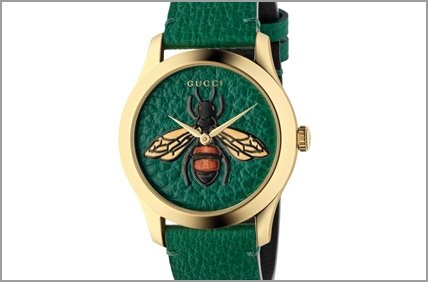 Gucci G timeless green bee watch