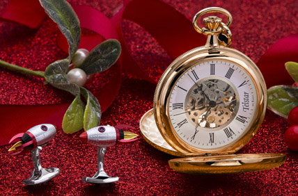 Pocket watches, cufflinks and classic gifts for him